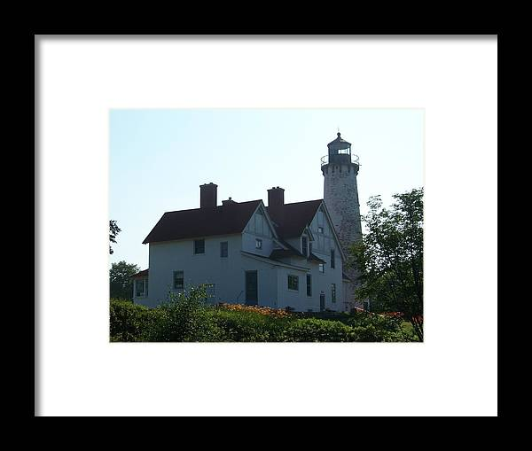 Michigan Framed Print featuring the photograph Iroquois Point Lighthouse by Jennifer King