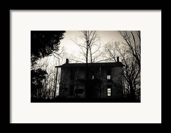 Abandoned Framed Print featuring the photograph Is Anybody Home by Off The Beaten Path Photography - Andrew Alexander