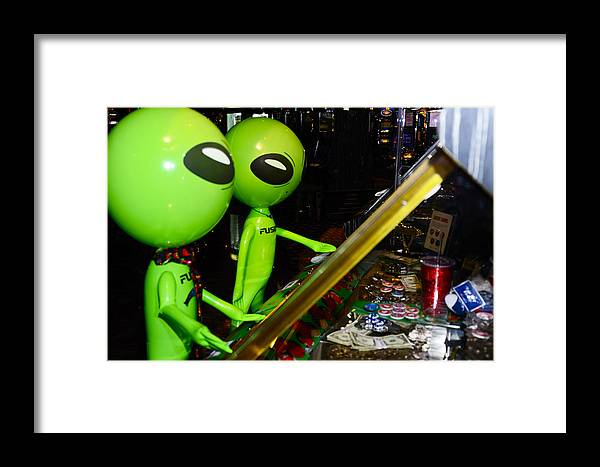 Aliens Framed Print featuring the photograph Is This Game Rigged by Richard Henne