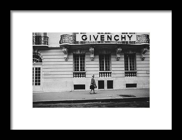 Exterior Framed Print featuring the photograph Isabel O'Donnell In Front Of Givenchy by Knight Russell