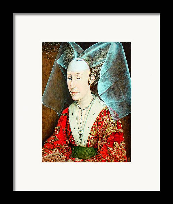 Avantgarde Framed Print featuring the photograph Isabella Of Portugal 1397-1471 by Li  van Saathoff