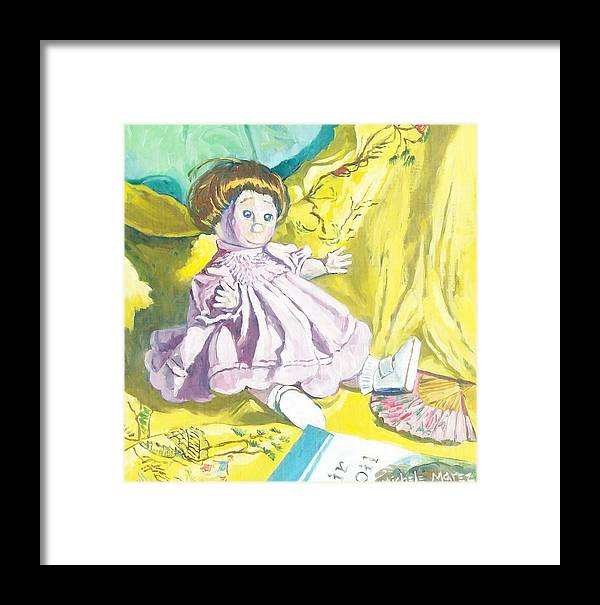 Doll Framed Print featuring the painting Isabel's Dolly by Michele Marez