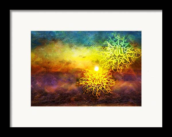 Islamic Framed Print featuring the painting Islamic Calligraphy 020 by Catf