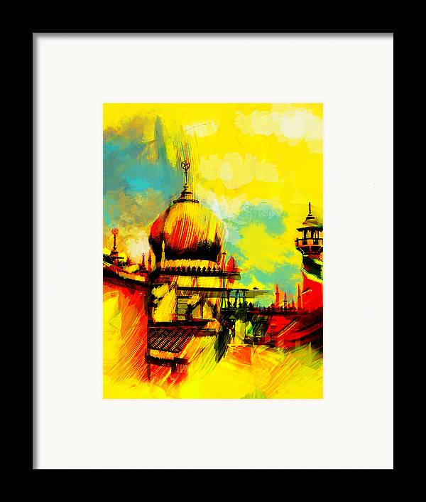 Islamic Framed Print featuring the painting Islamic Painting 001 by Catf