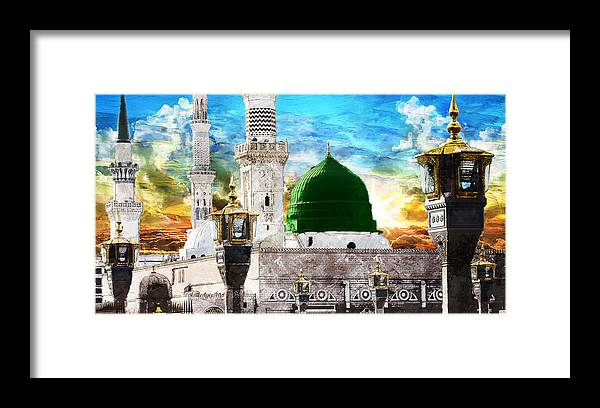 Islamic Framed Print featuring the painting Islamic Painting 004 by Catf