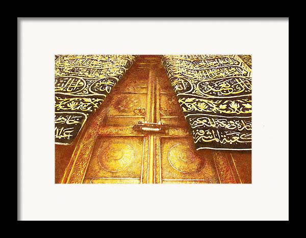 Islamic Framed Print featuring the painting Islamic Painting 008 by Catf