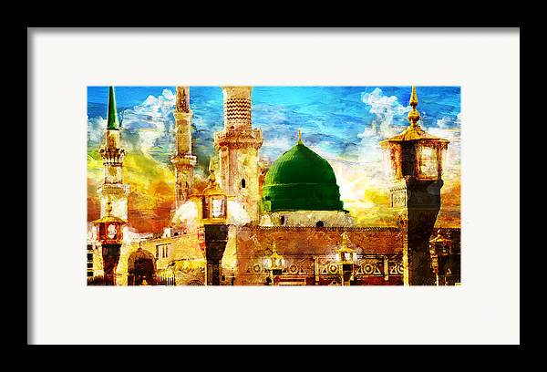 Islamic Framed Print featuring the painting Islamic Paintings 005 by Catf