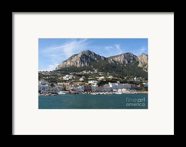 Yachts Framed Print featuring the photograph Island Capri Panoramic Sea View by Kiril Stanchev