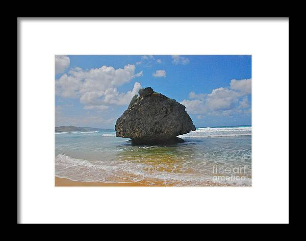 Barbados Framed Print featuring the photograph Island Rock by Blake Yeager