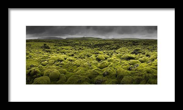 Landscape Framed Print featuring the photograph Islandmoos I by Franz Schumacher