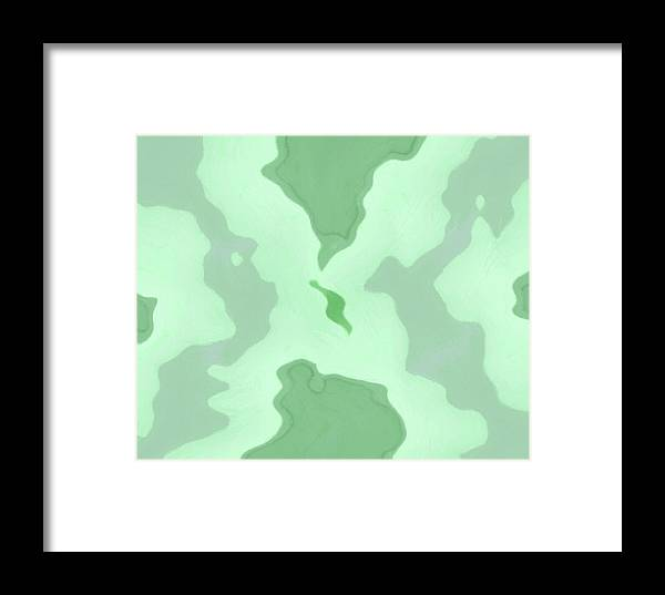 Abstract Framed Print featuring the painting Islands by Steve K
