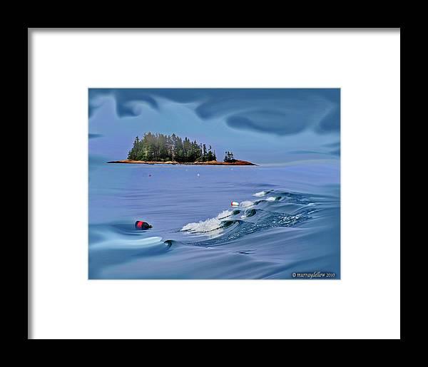 Waves Framed Print featuring the digital art Isle Au Haut Dream by Murray Dellow