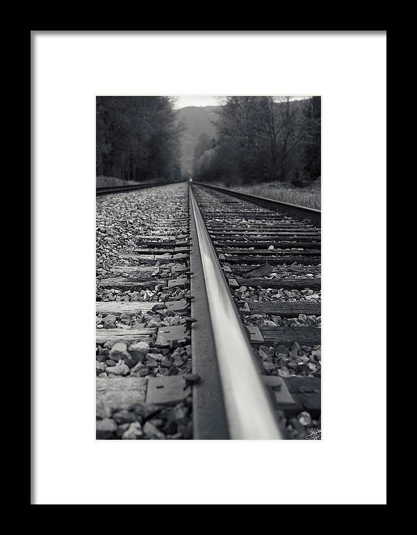 Train Framed Print featuring the photograph It Is Coming by Lisa Knechtel