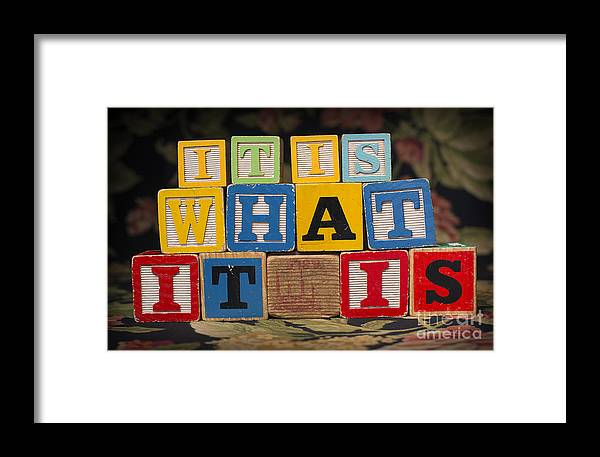 It Is What It Is Framed Print featuring the photograph It Is What It Is by Art Whitton