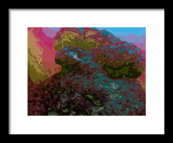 Abstract Framed Print featuring the digital art It Is What It Is by James Kramer