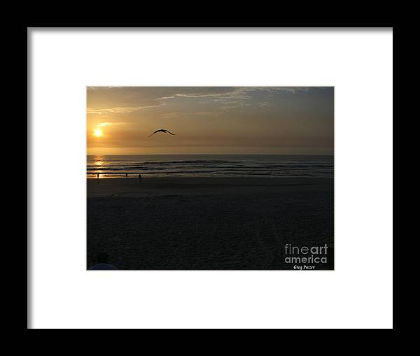 Florida Sunrise Framed Print featuring the photograph It Starts by Greg Patzer