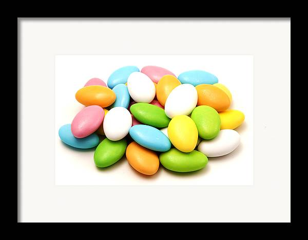 White Background Framed Print featuring the photograph Italian Confetti by Fabrizio Troiani