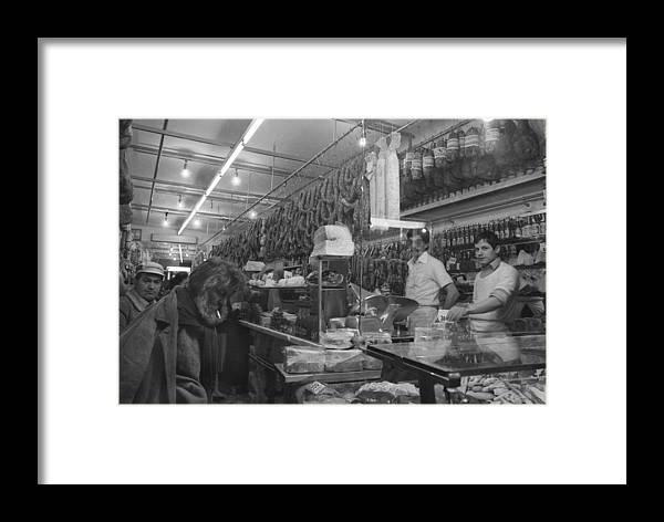 Market Framed Print featuring the photograph Italian Market by Bernard Barcos
