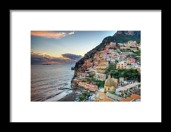 Amalfi Coast Framed Print featuring the photograph Italy, Amalfi Coast, Positano by Michele Falzone