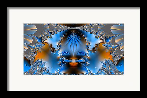 Abstract Framed Print featuring the photograph Its All In The Eyes by Ian Mitchell