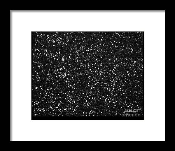 Abstract Framed Print featuring the painting It's Black And White by Debbie Broadway