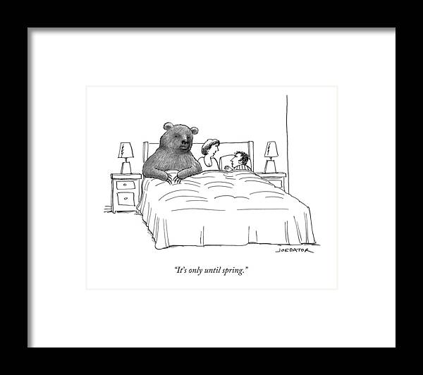 It's Only Until Spring. Framed Print featuring the drawing Only Until Spring by Joe Dator