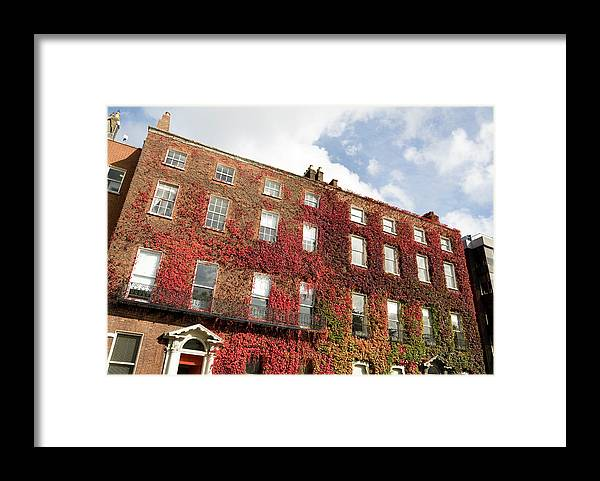 Dublin Framed Print featuring the photograph Ivy Covered Georgian Style Building In by Lleerogers
