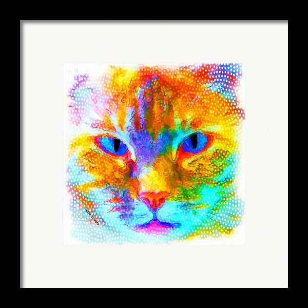 Moon Stumpp Framed Print featuring the painting Izzy by Moon Stumpp