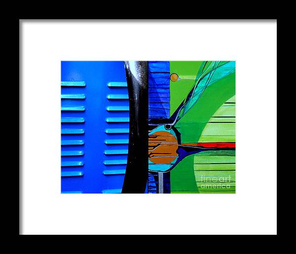 Framed Print featuring the painting j HOT 35 by Marlene Burns