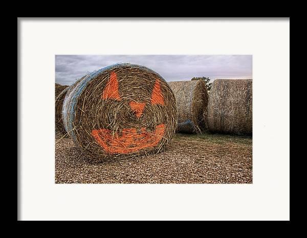 Halloween Framed Print featuring the photograph Jack-o-lantern Hayroll by Jason Politte