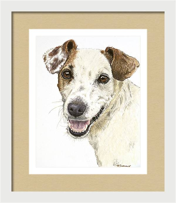 Jack Russell Terrier Portrait by Kate Sumners