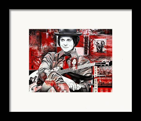Jack White Framed Print featuring the painting Jack White by Joshua Morton