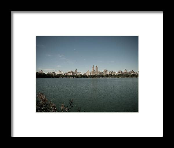 Manhattan Framed Print featuring the photograph Jackie Onassis Reservoir by Newyorkcitypics Bring your memories home