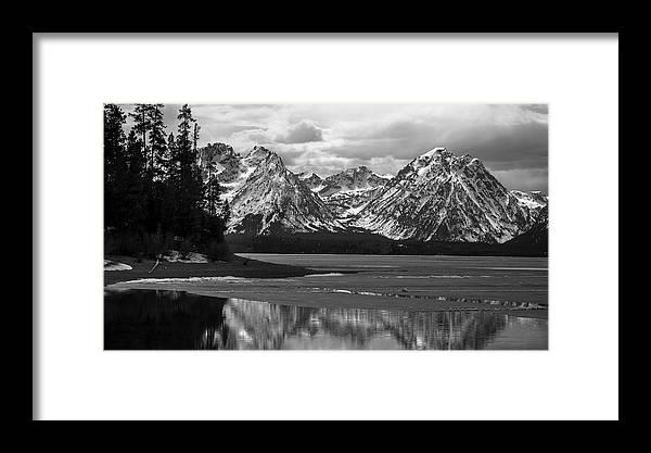 Jackson Lake Framed Print featuring the photograph Jackson Lake Grand Teton National Park by RiverNorth Photography