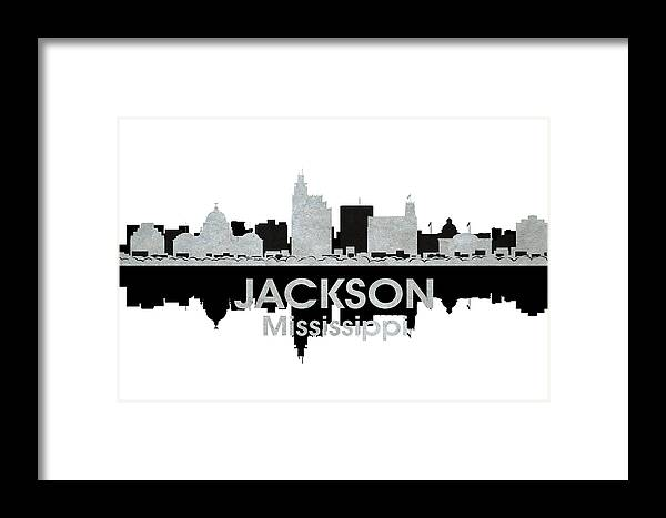 Jackson Framed Print featuring the mixed media Jackson Ms 4 by Angelina Vick