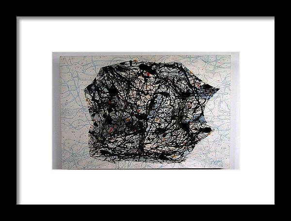 Czappa Framed Print featuring the painting Jackson Pollock Paint By Number by Czappa