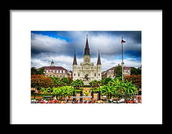 Cathedral Framed Print featuring the photograph Jackson Square New Orleans by Jarrod Erbe