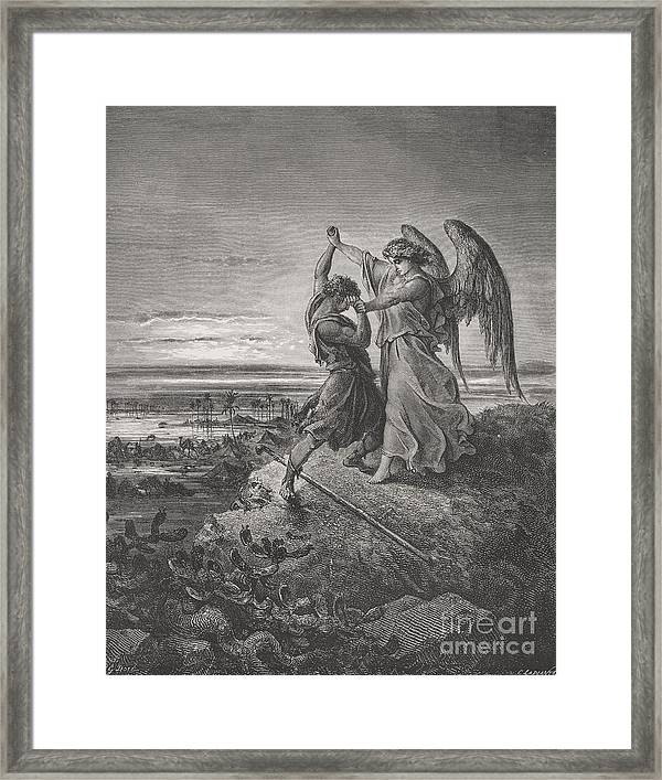 Gustave Dore Jacob Wrestling With Angel 1866 Dore Old Painting Framed Art Print