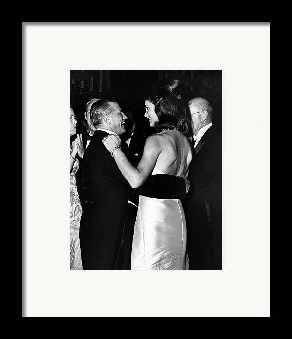 Jacqueline Framed Print featuring the photograph Jacqueline Kennedy Dancing by Retro Images Archive