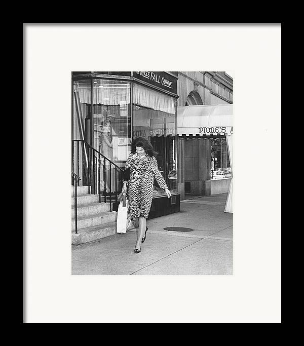 Retro Framed Print featuring the photograph Jacqueline Kennedy In Leopard Print by Retro Images Archive