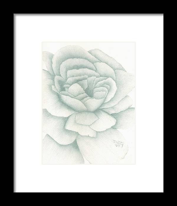 Rose Framed Print featuring the drawing Jade Rose by Dusty Reed