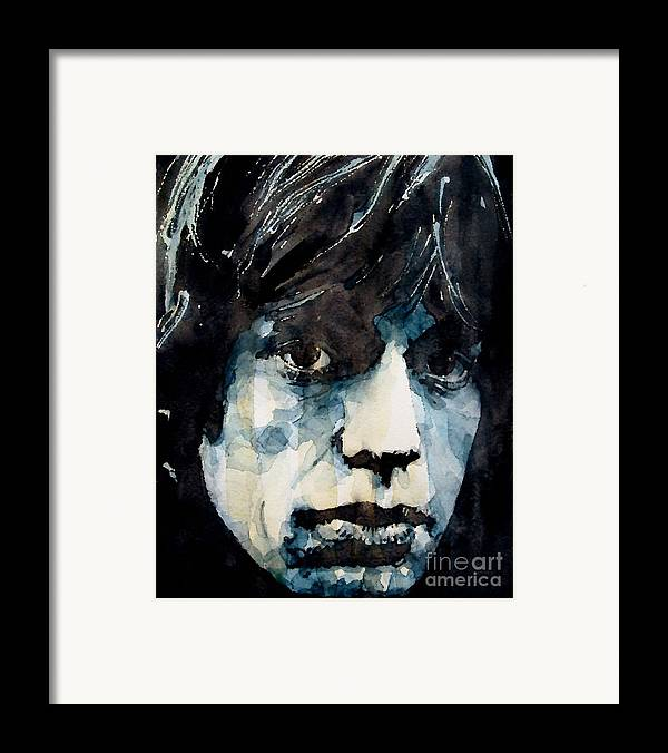 Mick Jagger Framed Print featuring the painting Jagger No3 by Paul Lovering