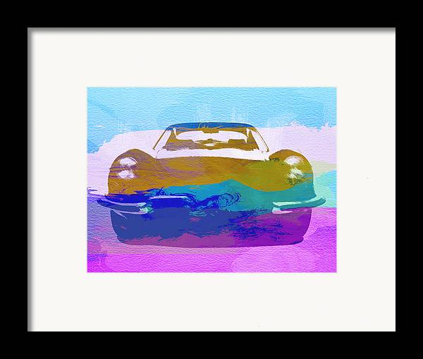 Jaguar E Type Framed Print featuring the painting Jaguar E Type Front by Naxart Studio