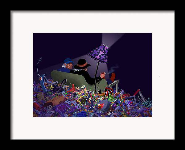 Dkzn Framed Print featuring the digital art Jake's Place by Tom Dickson