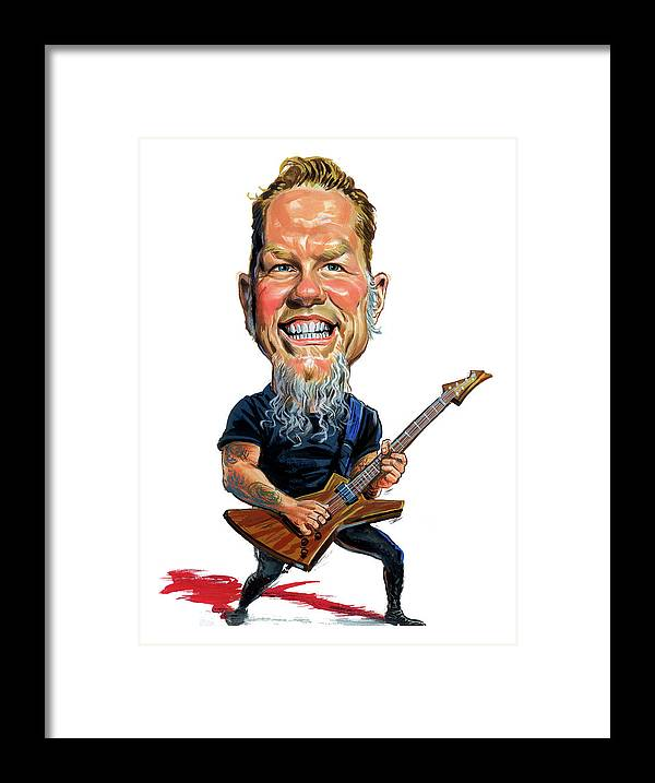 James Hetfield Framed Print featuring the painting James Hetfield by Art