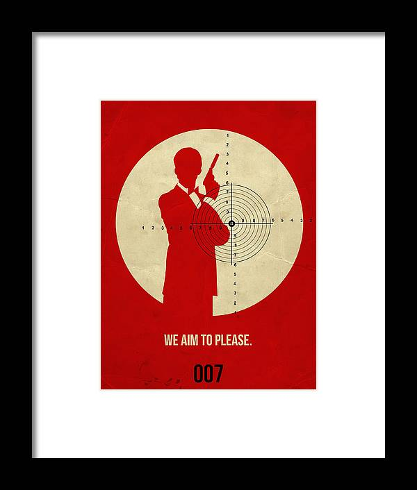 Framed Print featuring the digital art James Poster Red 2 by Naxart Studio