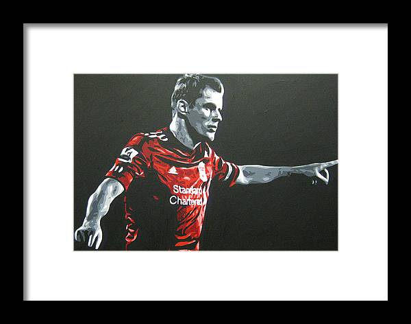 Jamie Carragher Framed Print featuring the painting Jamie Carragher - Liverpool Fc by Geo Thomson