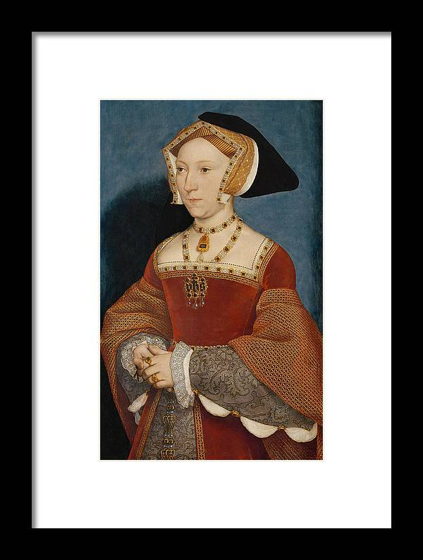 Hans Holbein The Younger Framed Print featuring the painting Jane Seymour Queen Of England by Hans Holbein the Younger