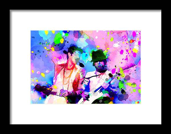 Jane's Addiction Framed Print featuring the painting Jane's Addiction by Rosalina Atanasova