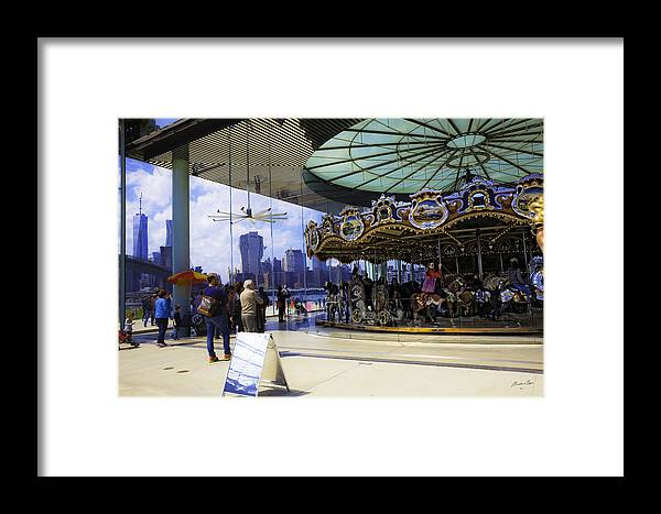 Carousel Framed Print featuring the photograph Jane's Carousel 2 In Dumbo - Brooklyn by Madeline Ellis